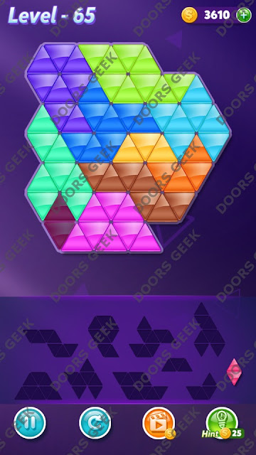 Block! Triangle Puzzle Master Level 65 Solution, Cheats, Walkthrough for Android, iPhone, iPad and iPod