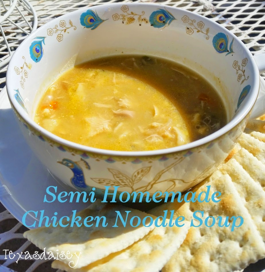 Recipe for Semi Homemade Chicken Noodle Soup