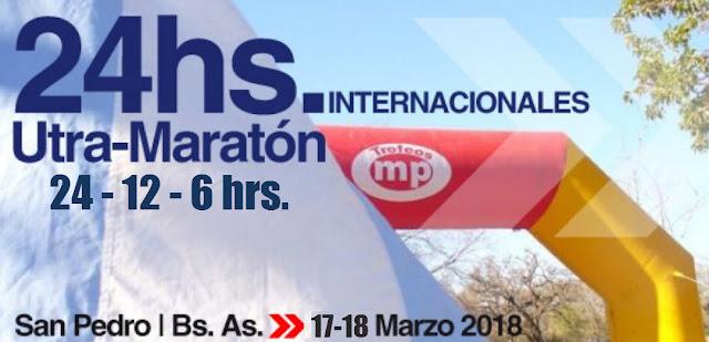 Ultramaratón de San Pedro (Pcia. de Buenos Aires, Argentina; 17y18/mar/2018)
