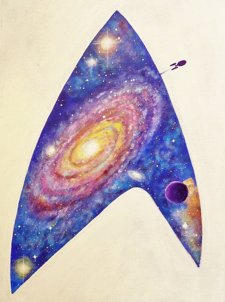 Angela anderson art blog star trek galaxy fan art acrylic for How to paint galaxy