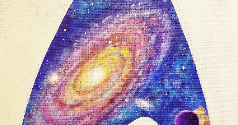 Angela Anderson Art Blog Star Trek Galaxy Fan Acrylic Painting Tutorial