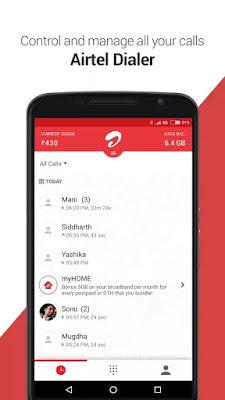 Control And Manage All Your Calls With My Airtel APK App