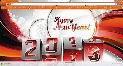 New Year 2013 Google Chrome Theme