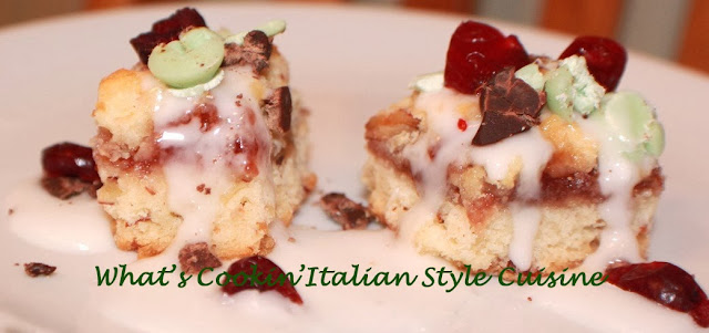 Small Cake With Dried Mint Chocolate On Top