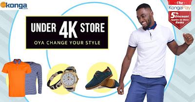 Konga.com under 4000 naira fashion in Nigeria