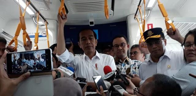 99 Persen Milik Pemprov DKI, Warganet: Kenapa MRT Diresmikan Jokowi?