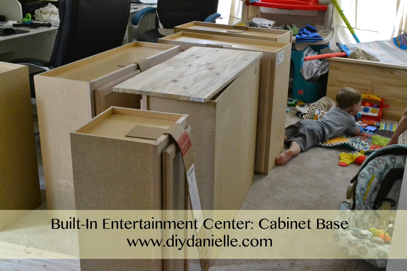 How to DIY your own entertainment center: cabinet base