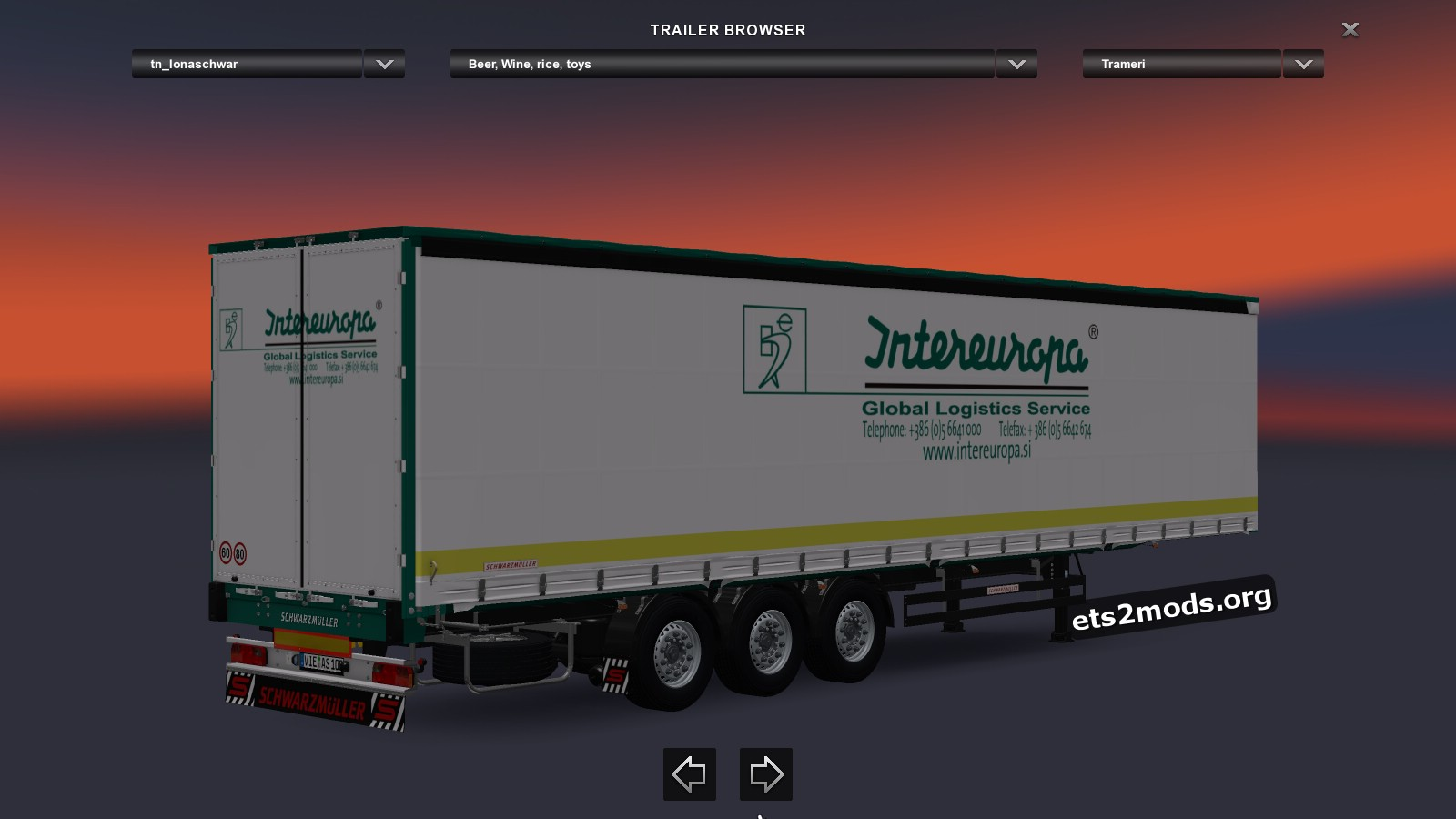 Pack Trailers Schwarzmuller SPA 3E