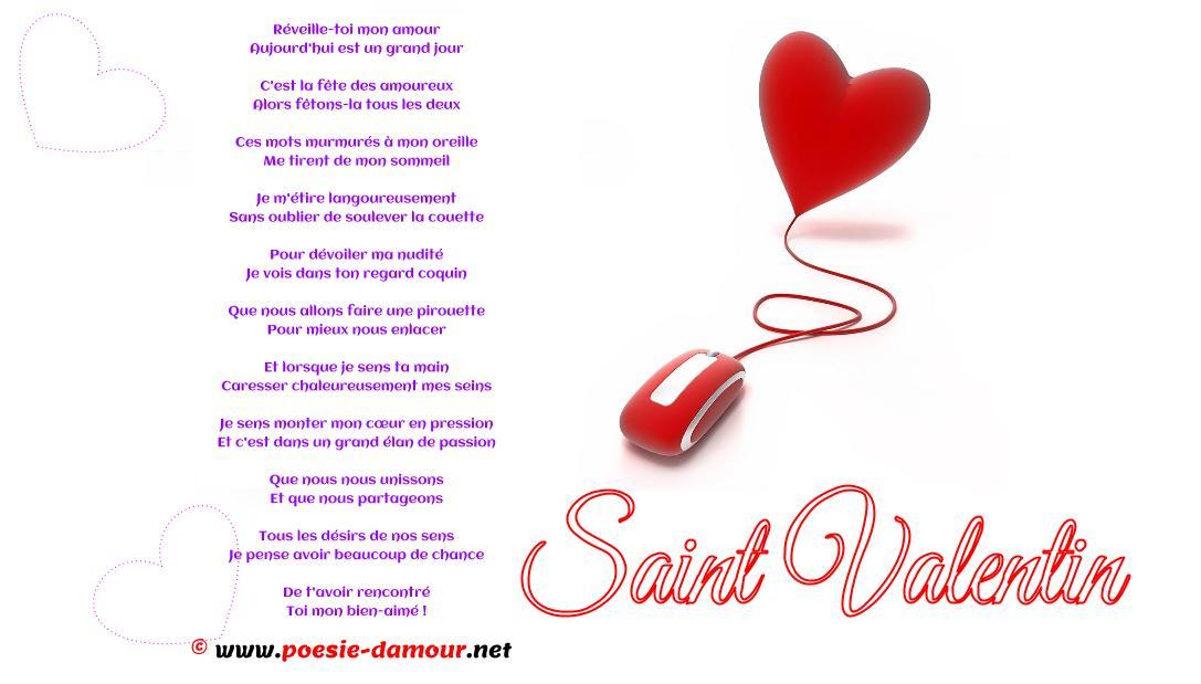 Beau poème d'amour pour la saint valentin