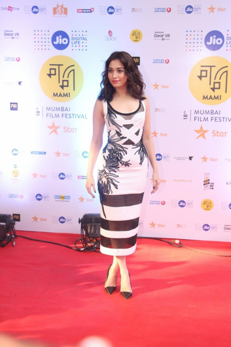 Tamannaah Bhatia Long Hair Stills In White Dress At Mami 2016