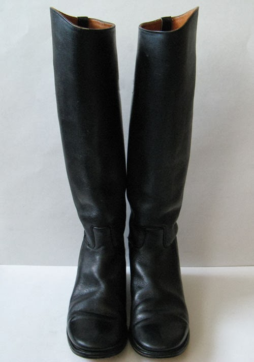 Vintage Tall Black Leather Riding Boots Womens Size 8