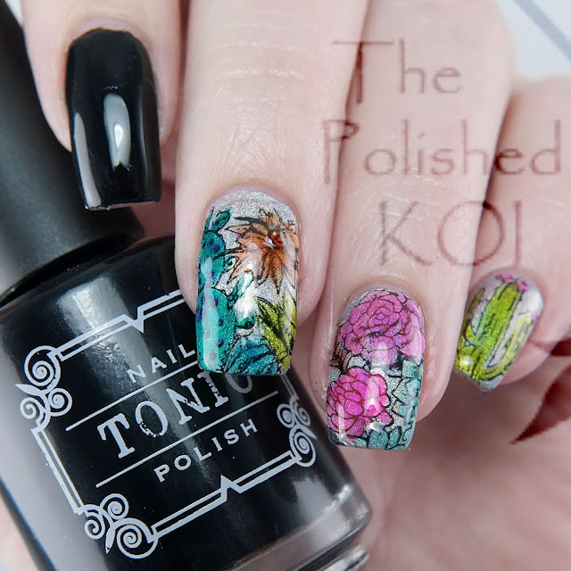 Tonic Polish Jinkx & Detox; Bundle Monster succulent nail art