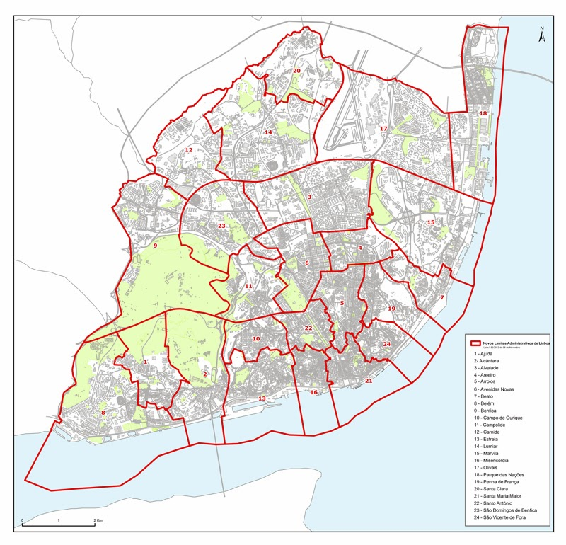 novo mapa de freguesias de lisboa RUAS DE LISBOA ALGUMA HISTÓRIA: FREGUESIAS DE LISBOA novo mapa de freguesias de lisboa