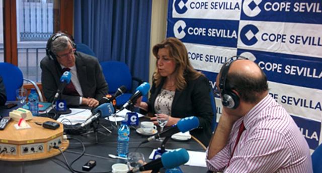 Susana Díaz entrevistada en la Cope