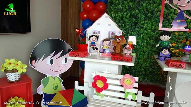 Decoração de mesa de aniversário tema Show da Luna