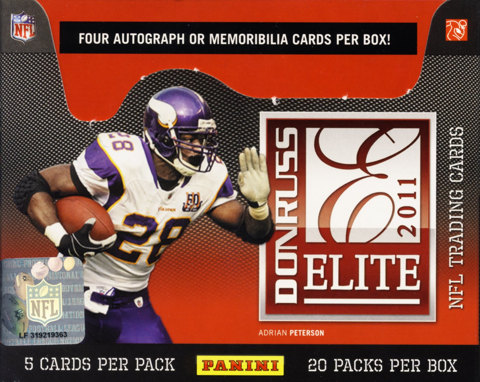 All About Cards: 2011 Donruss Elite Football NFL Trading Cards Box Break Recap and Review