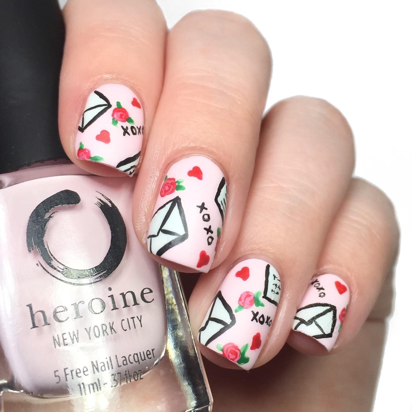 Love Letter Nail Art