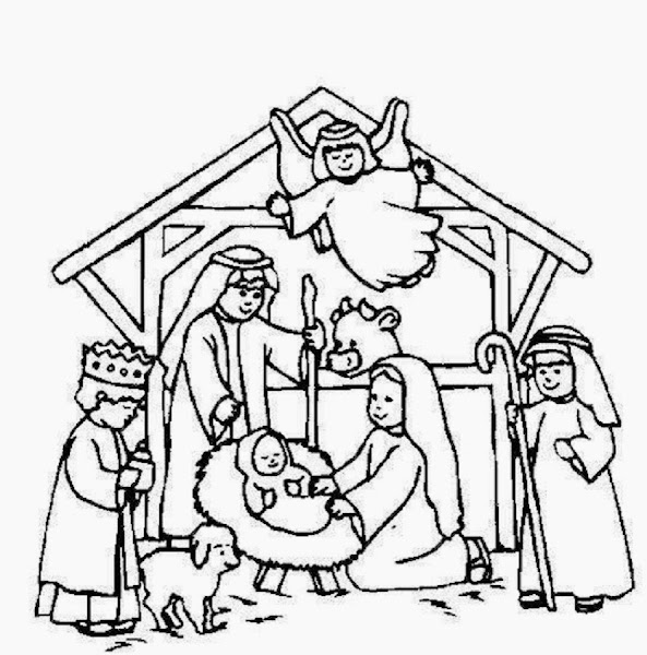 Christmas Nativity Stained Glass Coloring Pages ...