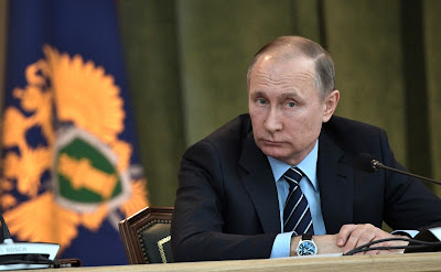 Vladimir Putin at a meeting of the Prosecutor General Board.