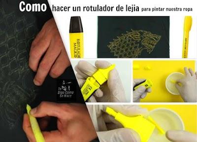 Como hacer nuestros propios rotuladores de lejia recargables
