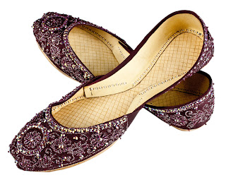 Womens Footwear Handcrafted  Beaded and Embroidered Leather Shoes