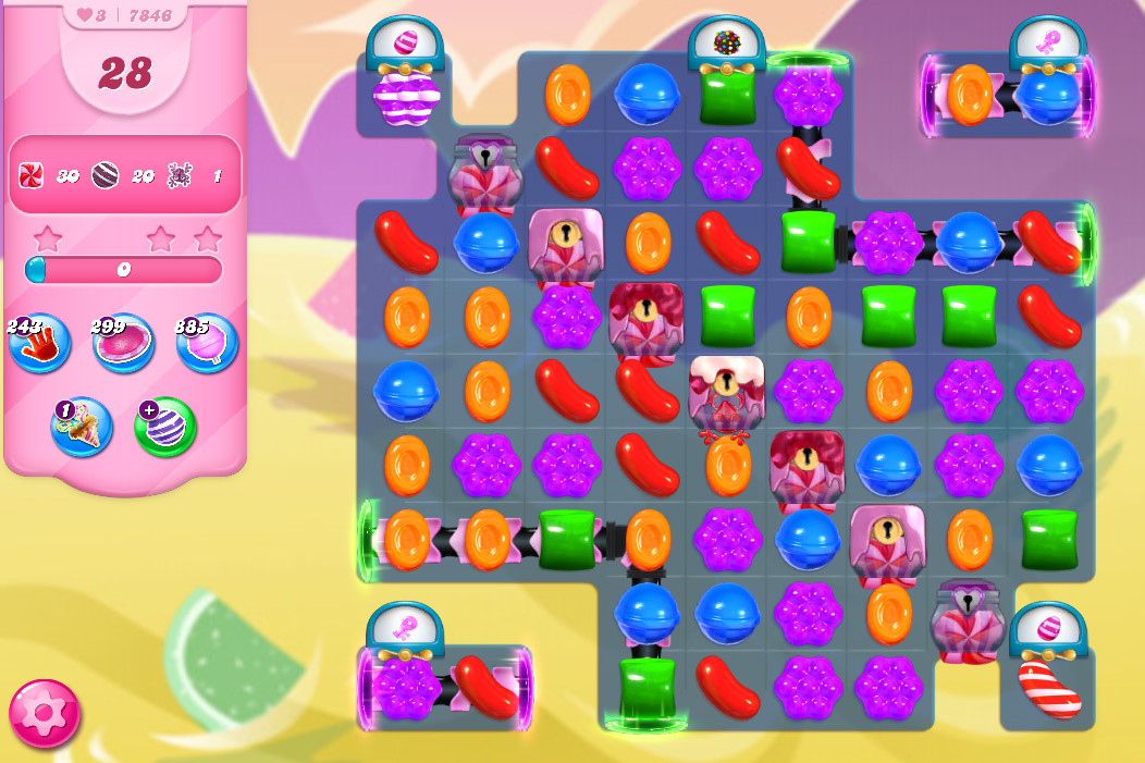Candy Crush Saga level 7846