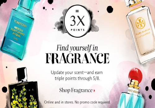 Sephora 3x Points On Fragrance Purchases