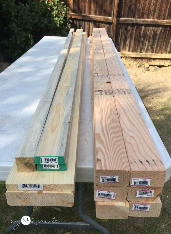 wood for vanity