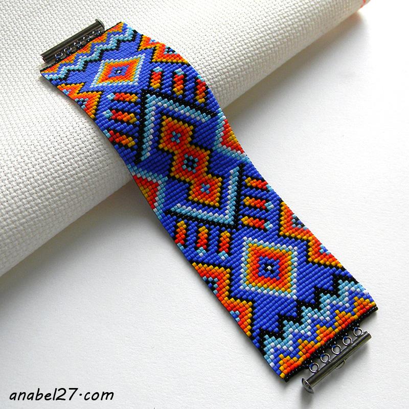 Браслет в индейском стиле