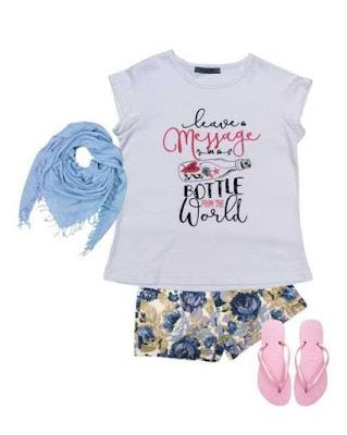 Moda en ropa de nenas primavera verano 2018.
