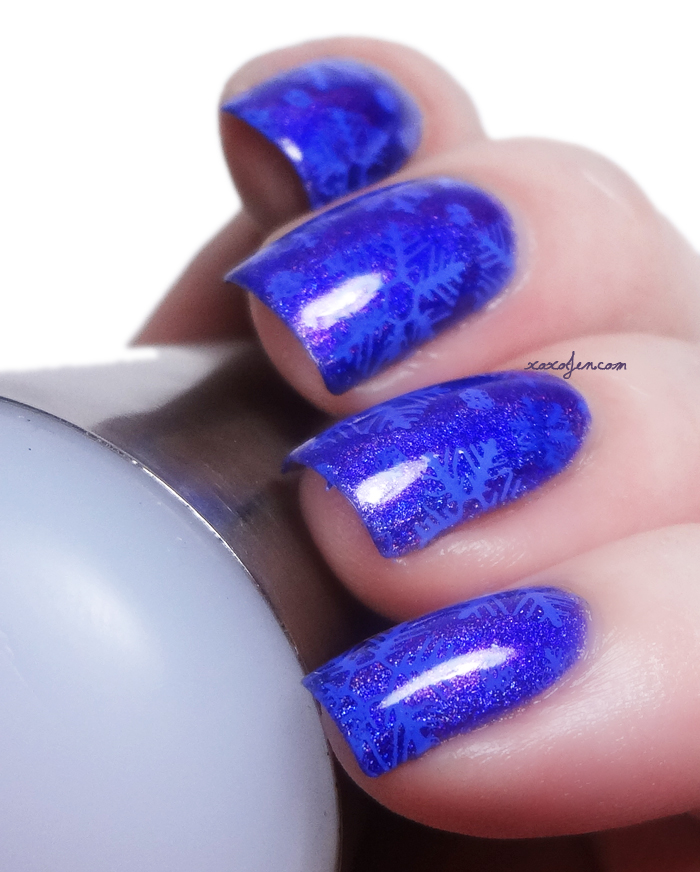xoxoJen's swatch of Vivid Lacquer VL006 Snowflakes
