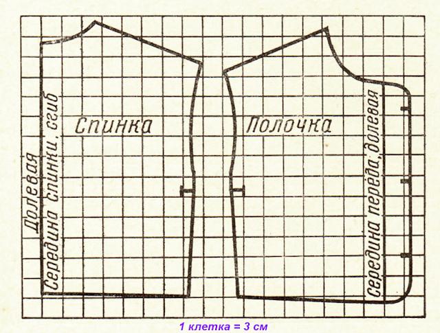 Выкройка женского стеганого жилета