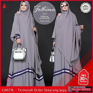 Jual RRJ244D150 Dress Fathima Syari Wanita Vol Tiga Sk BMGShop