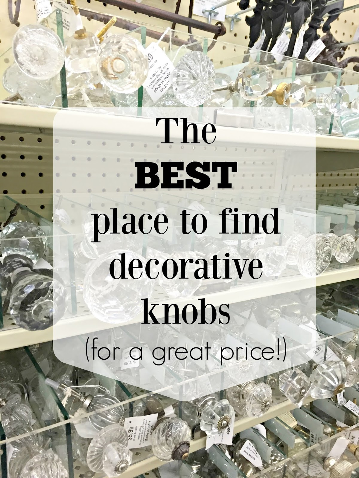 The best place to find decorative knobs and hardware