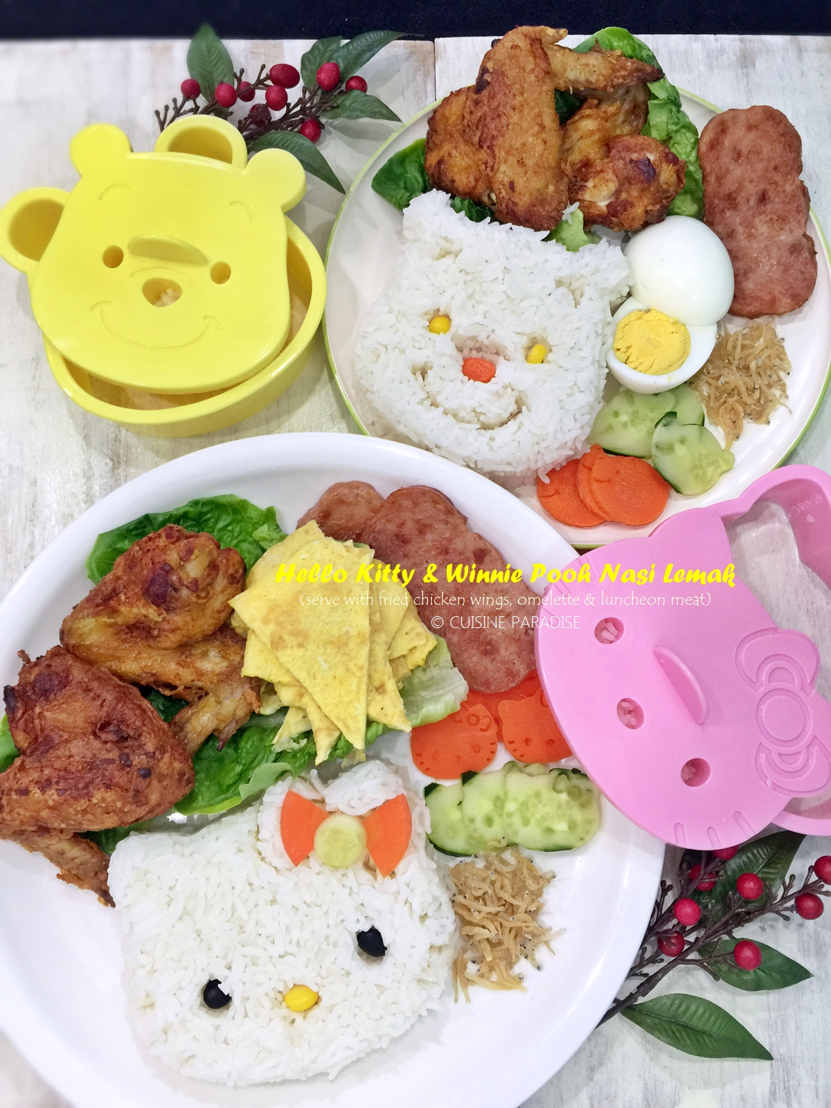 Cuisine paradise singapore food blog recipes reviews and travel recipes video hello kitty winnie pooh nasi lemak forumfinder Images