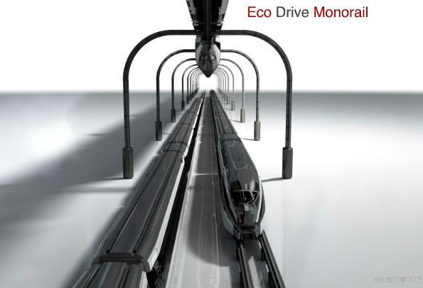 Future Eco Drive Monorail Concept