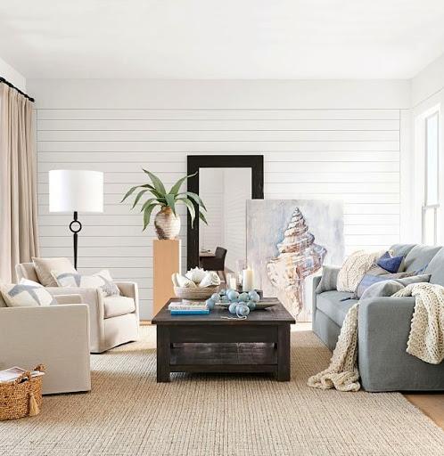 coastal nautical living room design