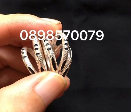 Mẫu nhẫn lông voi đơn bằng bạc cho nam và nữ