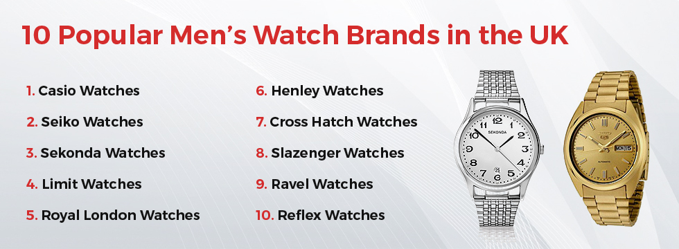 What Are The Popular Men S Watch Brands In The Uk Give