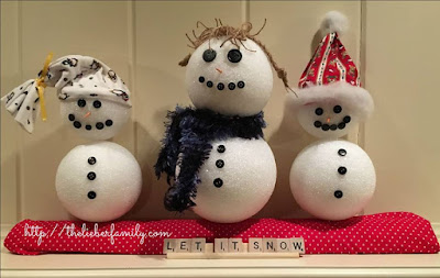 Blog With Friends, a multi-blogger project based post incorporating a theme. December 2017 theme is Celebrate | Snowman Trio by Rabia of The Lieber Family Blog | Featured on www.BakingInATornado.com