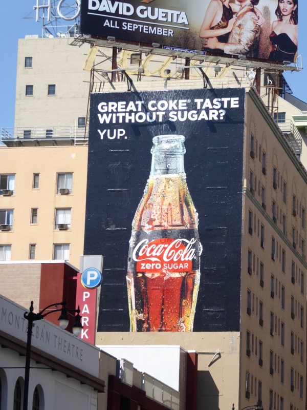Coca-Cola Zero Sugar billboard