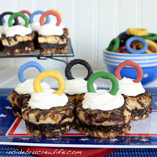 Olympic Caramel Cheesecake Bites