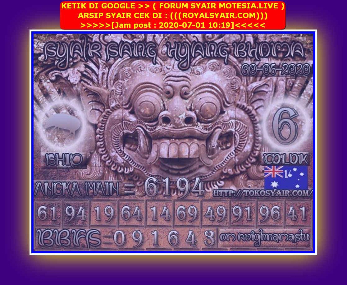 Kode syair Sydney Rabu 1 Juli 2020 169