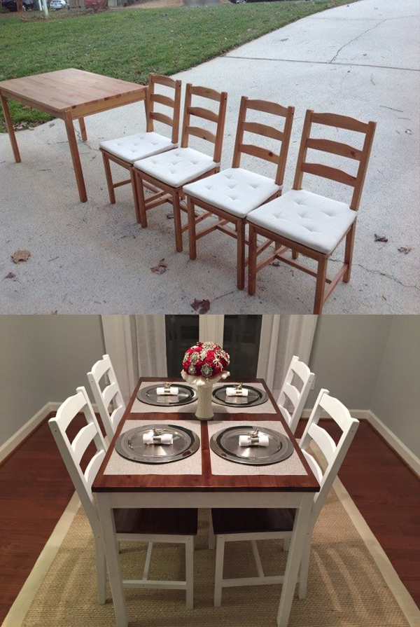 IKEA Dining Room Table Makeover