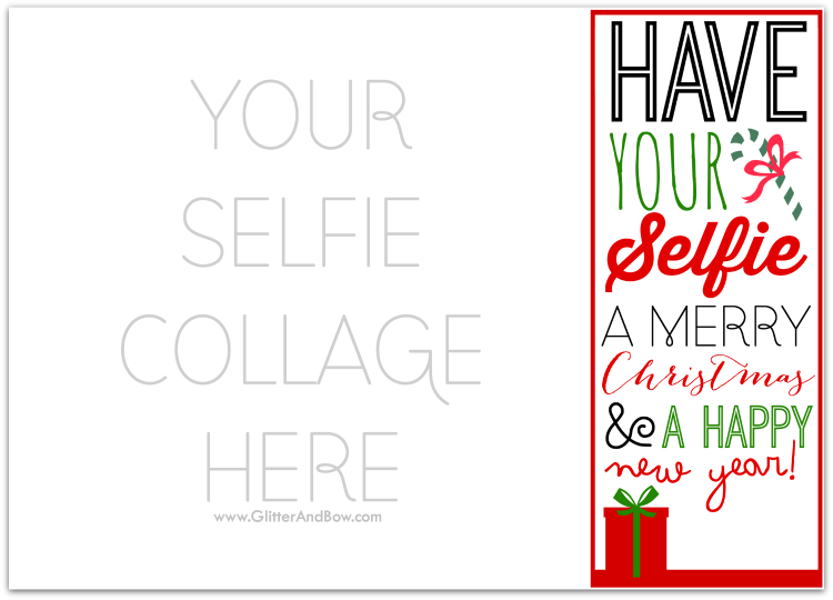 free photo christmas card templates - diy printable selfie christmas card a free template
