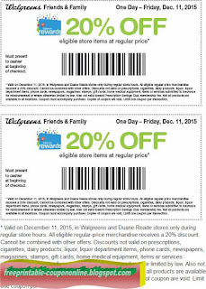 Free Printable Walgreens Coupons