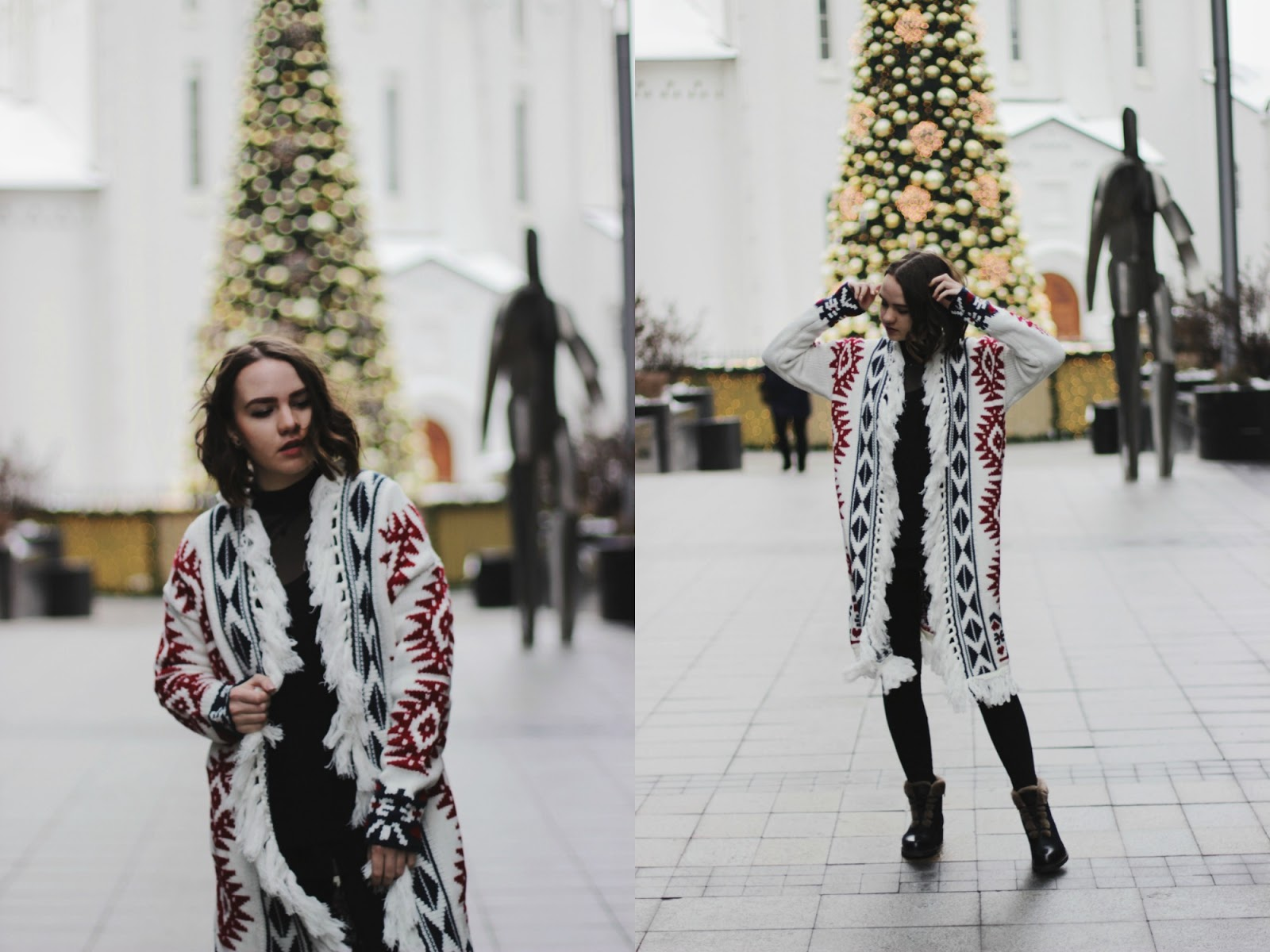 Fashion Blogger| Tribal Print Cardigan | SheIn