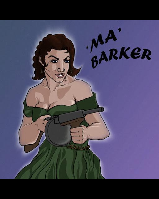 Ilustración de Ma Barker