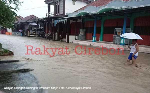 wilayah cibingbin kuningan terendam banjir