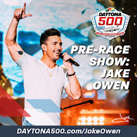 Country music artist Jake Owen, a Florida native, performed in the pre-race show. #daytona500 #nascar